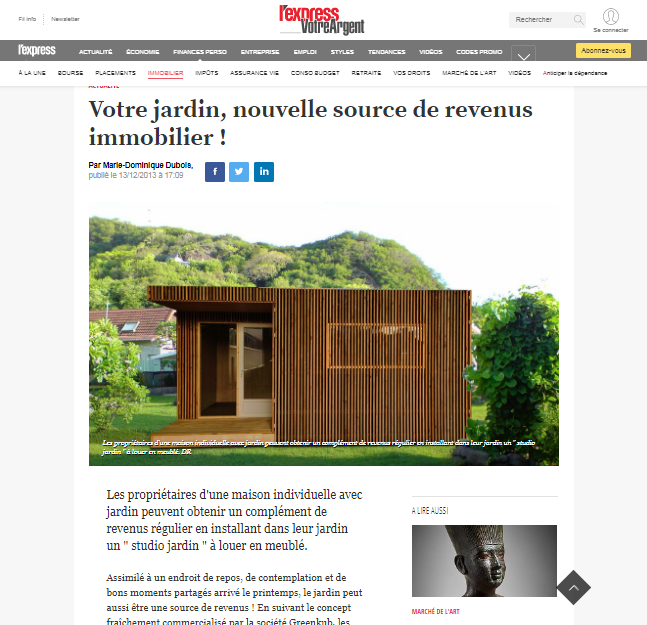 Article l'express sur Greenkub