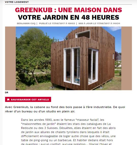 article de Capital sur Greenkub