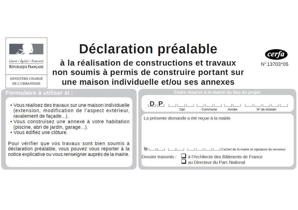 Déclaration préalable de travaux