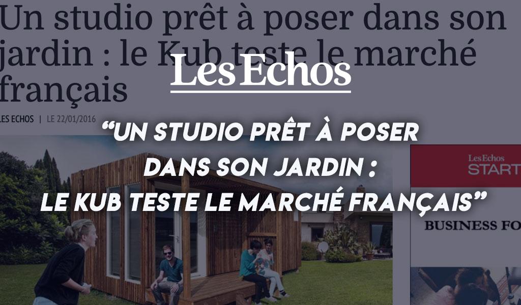 Un studio prêt à poser dans son jardin : le Kub teste le marché français [Les Echos]