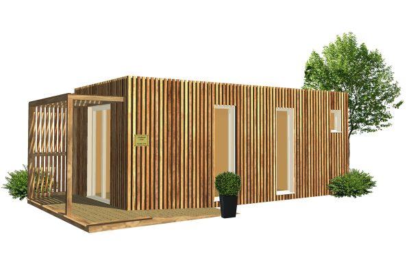 Cabinet de praticien dans un studio de jardin en bois Greenkub