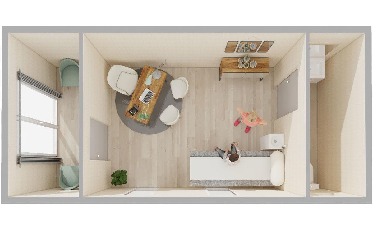 Studio de jardin en bois : Cabinet de praticien