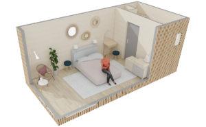 Aménagement d'une chambre d'amis pour deux personnes