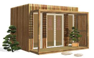 Salle de bien être et de détente en bois Greenkub
