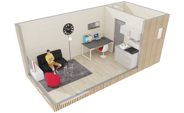 Studio de jardin en bois : Location étudiante