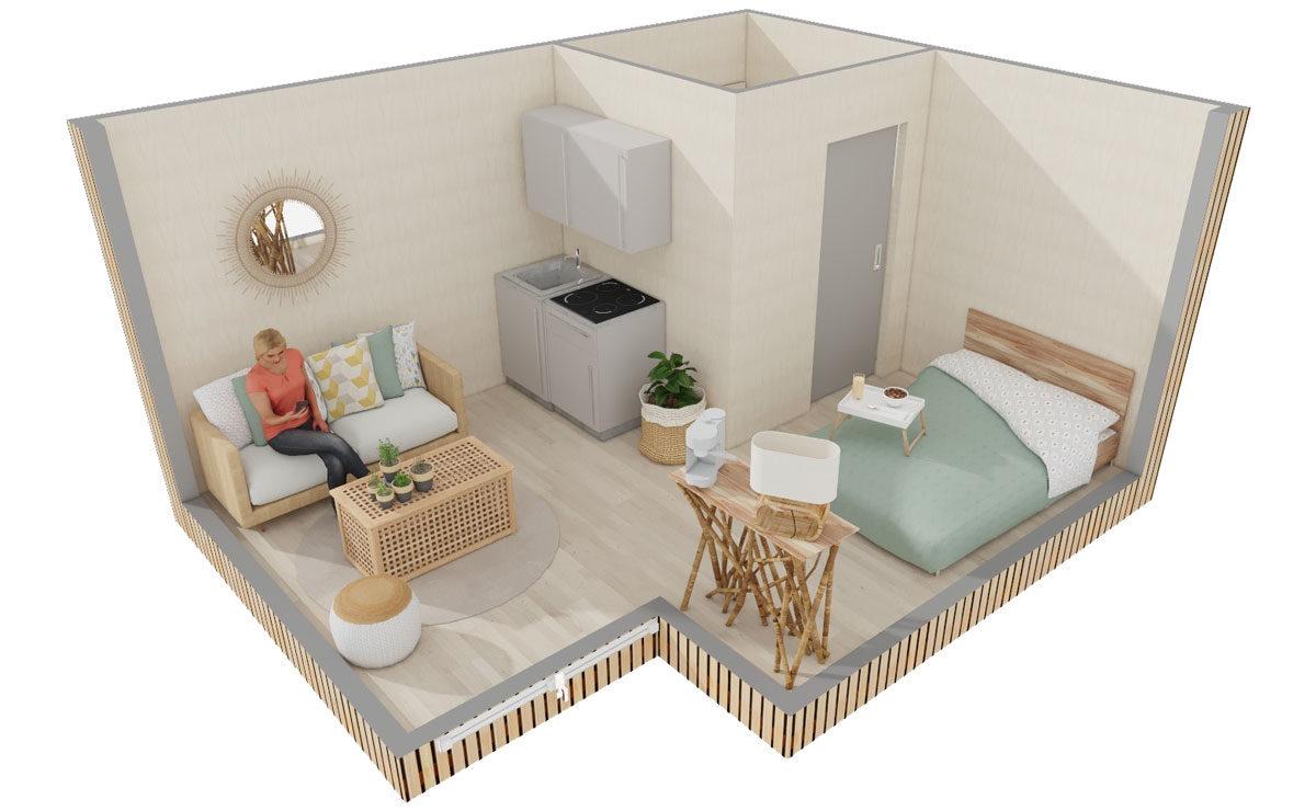 Studio de jardin en bois Lodge Greenkub