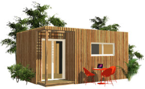 Lodge en bois Greenkub