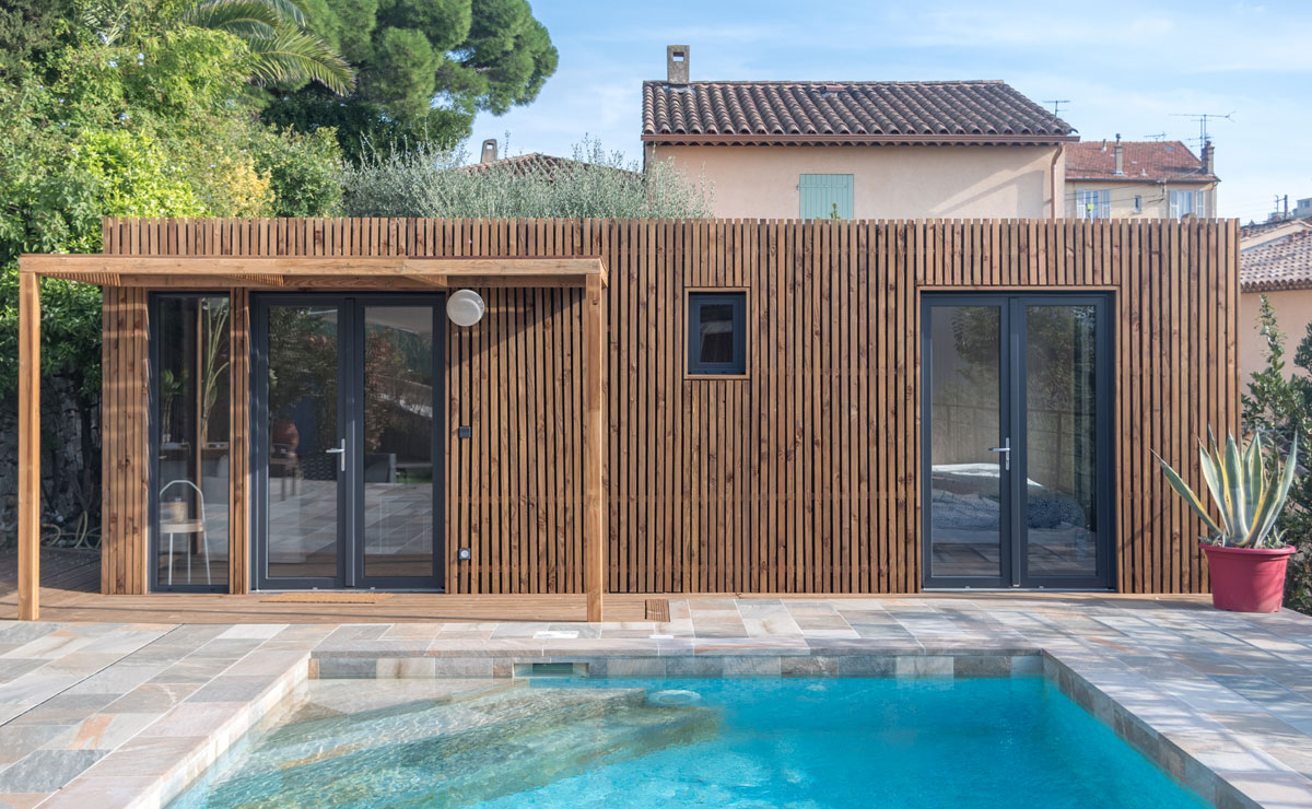Studio Pool House en bois Greenkub