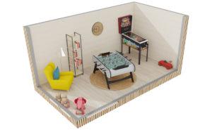 Studio de jardin en bois : Salle de jeux