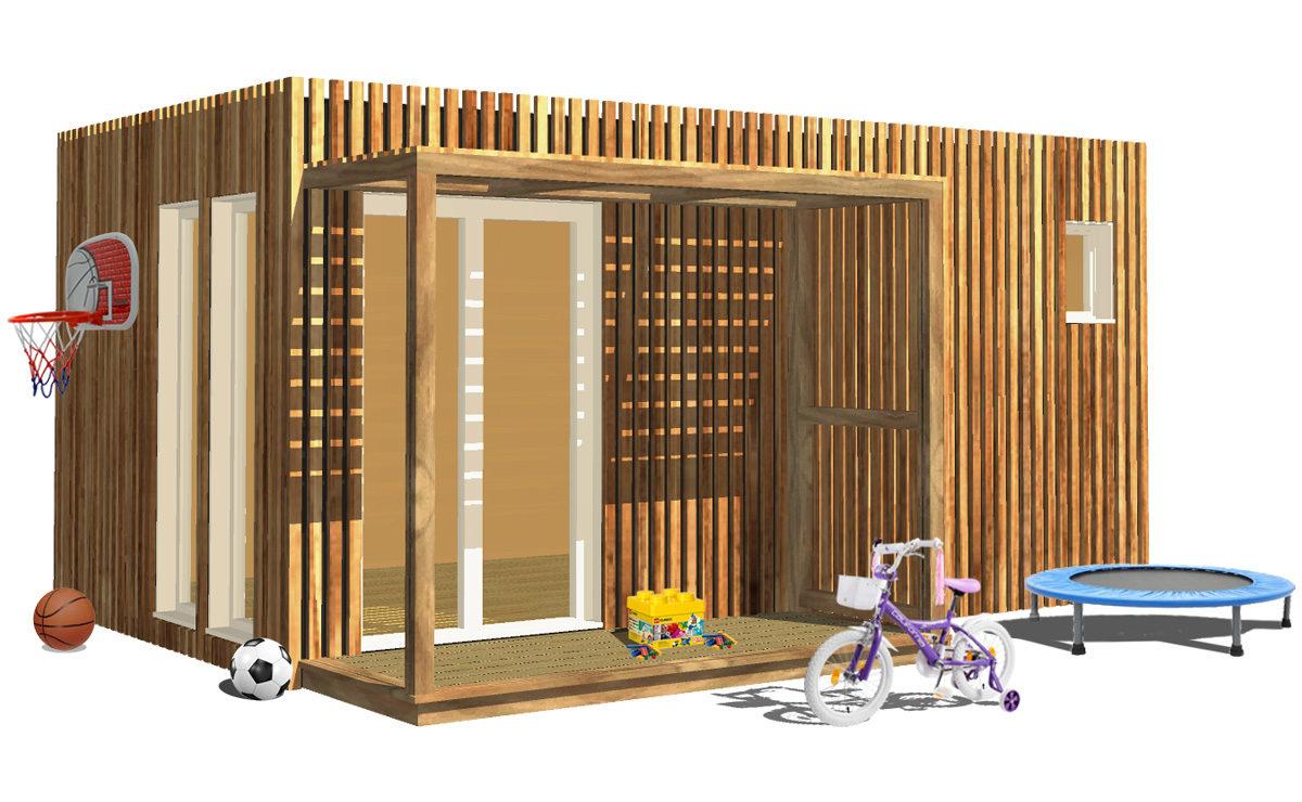 Salle de jeux de jardin en bois Greenkub