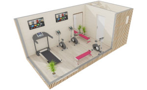 Studio de jardin en bois : Salle de sport