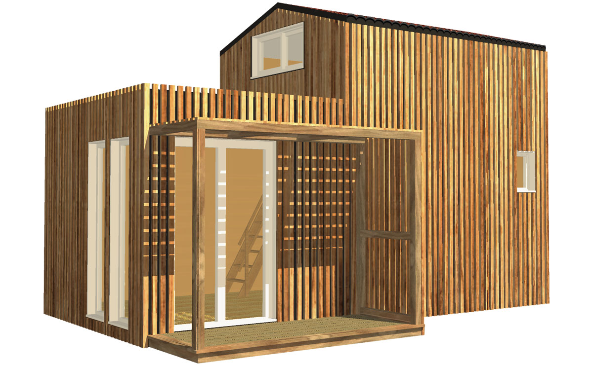 Container Aménagé Studio Prix studio de jardin avec mezzanine, 30m²