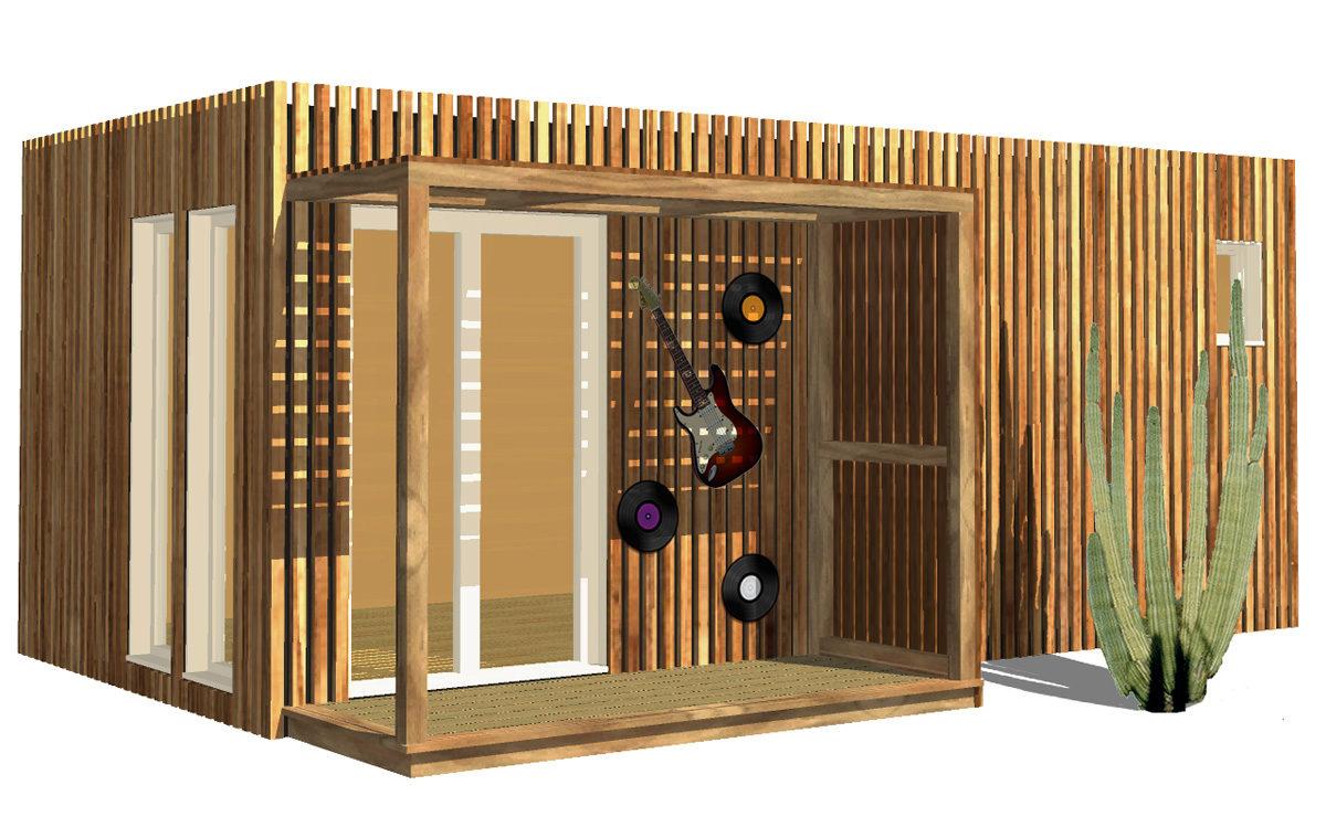Studio de musique de jardin en bois Greenkub