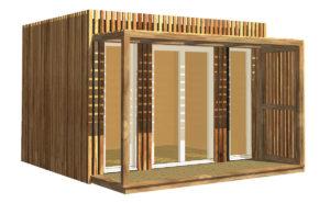 Studio de jardin en bois de 11 mètres carrés