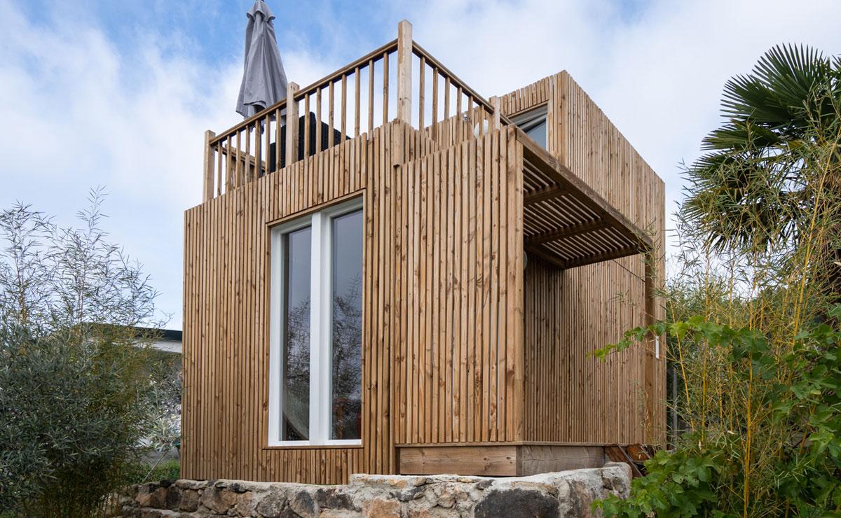 studio de jardin avec terrasse sans permis de construire. Black Bedroom Furniture Sets. Home Design Ideas
