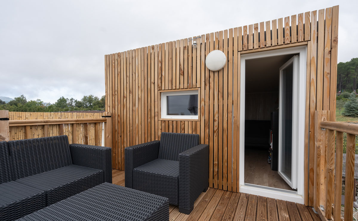 Studio de jardin en bois avec toit terrasse (tropézienne) Greenkub - terasse