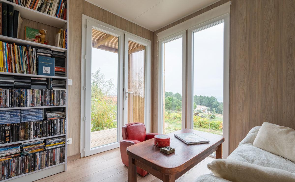 Studio de jardin en bois avec toit terrasse (tropézienne) Greenkub - entrée