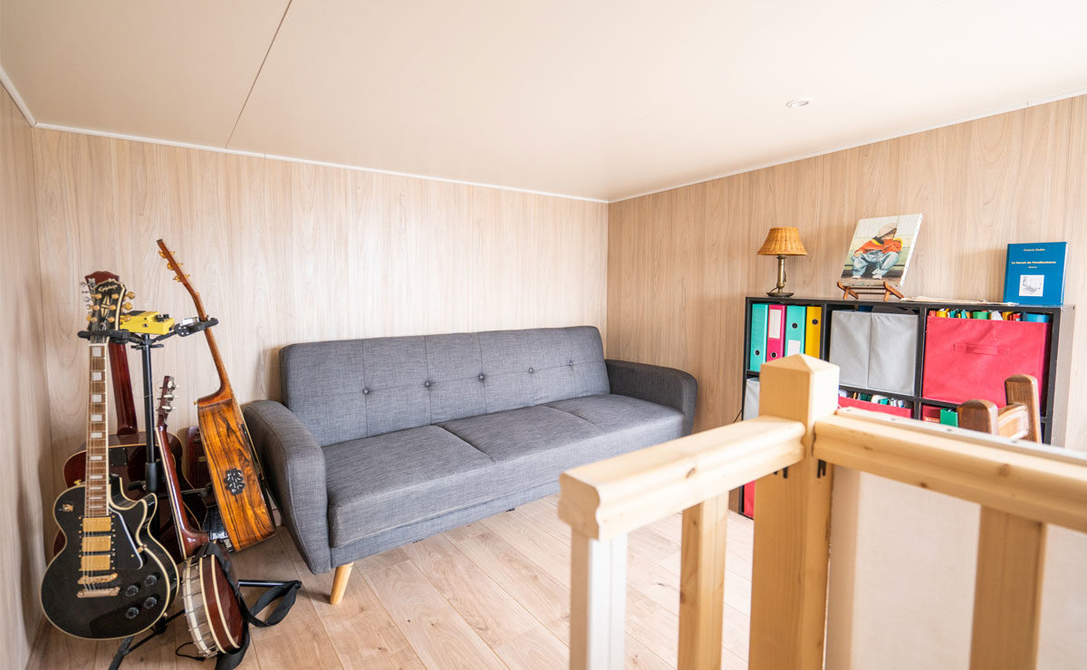 Studio de jardin en bois avec toit terrasse (tropézienne) Greenkub - étage