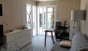 studio de jardin en bois de 11m² - entrée