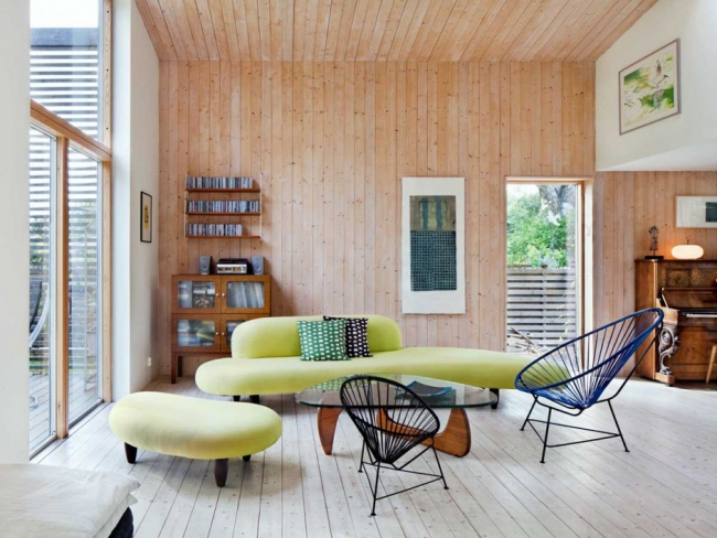 exemple d'aménagement pour une piece en bois