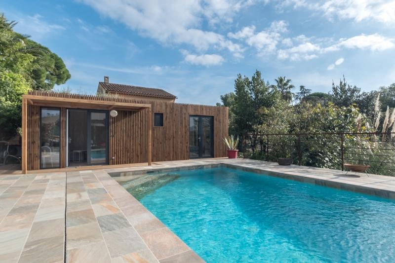 salle de bain poolhouse piscine studio de jardin 30m² alpes maritimes