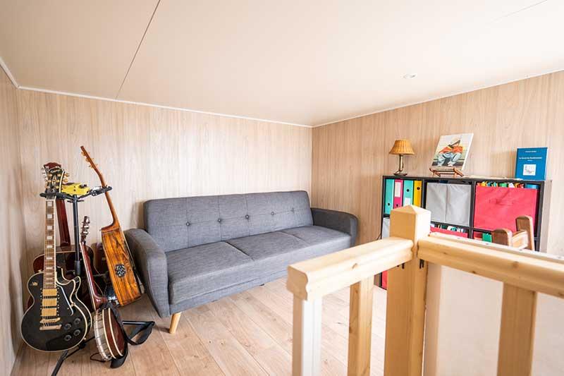 salle musique salon studio jardin