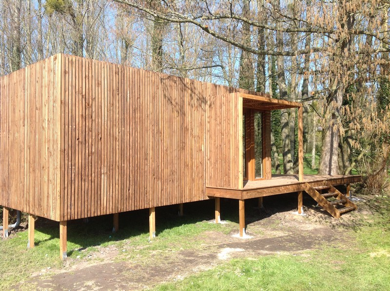 studio studios jardin 20m2 calvados terrasse