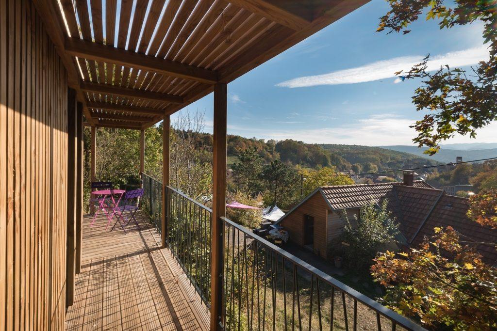 vue terrasse greenkub jardin