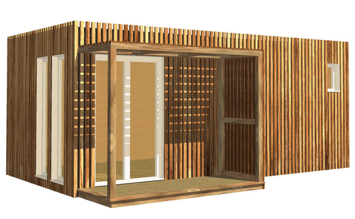 Studio de jardin en bois, 20m²