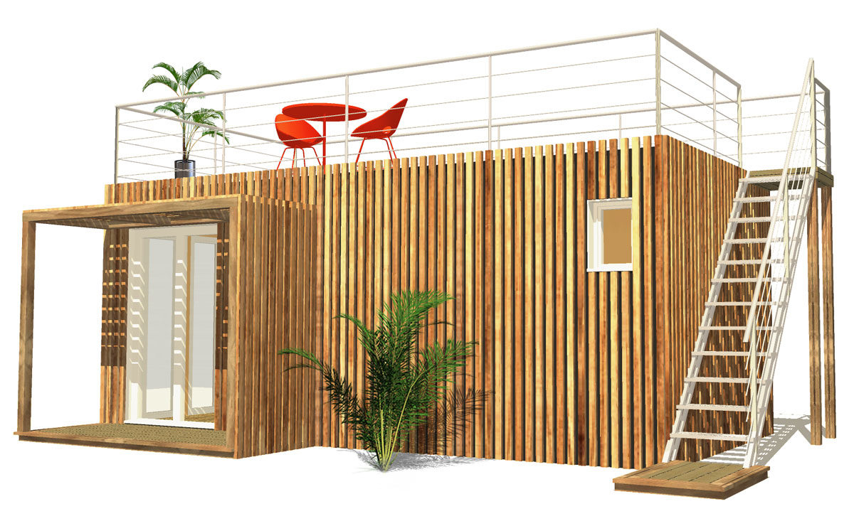 Summerkub : le studio de jardin avec un toit terrasse