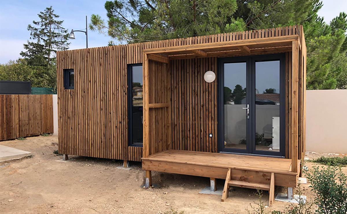 Abri De Jardin Habitable studio de jardin en bois, 20m²