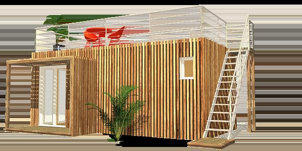 Studio de jardin avec toit terrasse Summerkub Greenkub