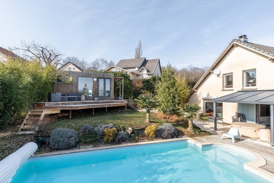 Poolhouse en bois doubs