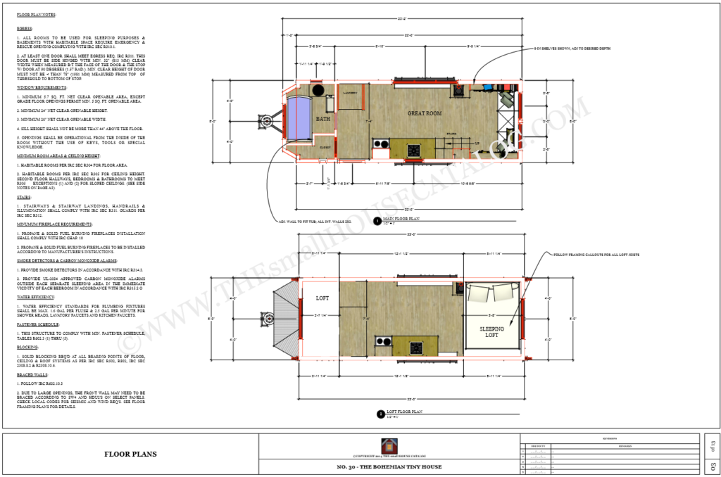 plan dimensions maximales tiny house
