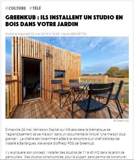 studio en bois dans vos jardin Greenkub la gazette