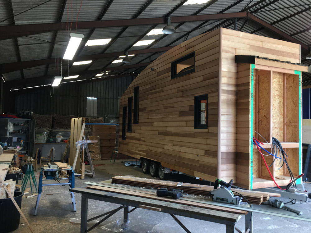 atelier d'un constructeur de tiny house