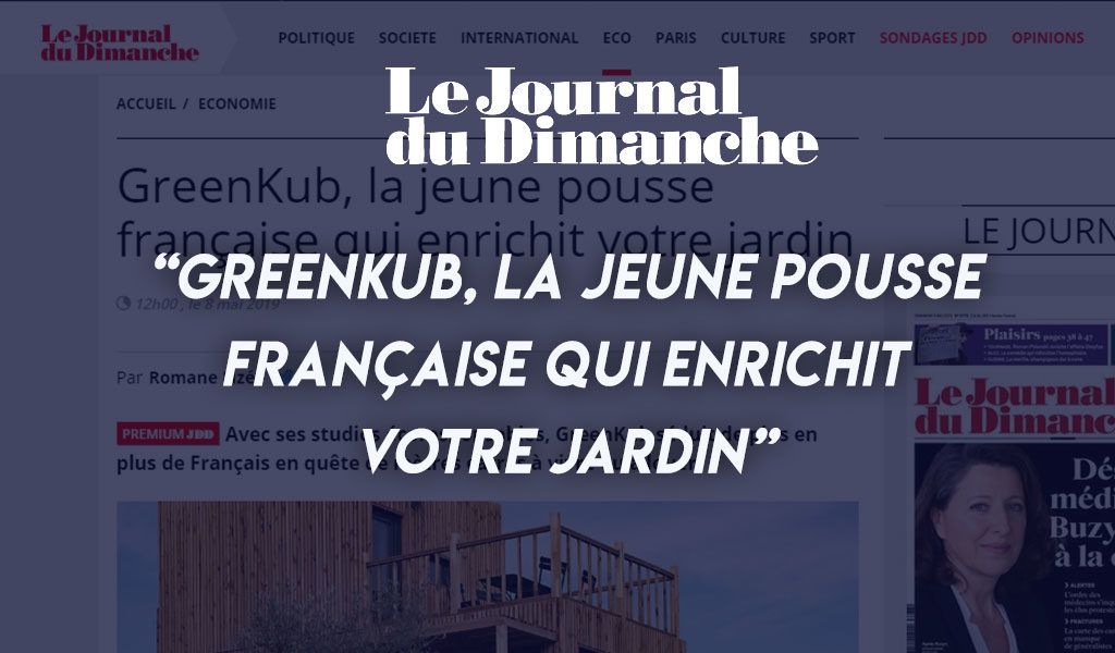Couverture de l'article du JDD sur greenkub