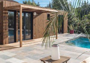 Pool house bois Greenkub