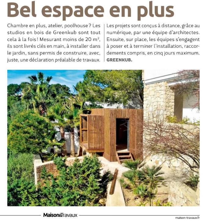 Maison et travaux Greenkub un espace de plus