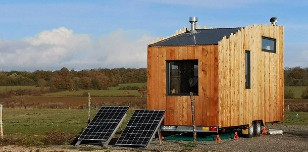 panneaux solaires pour chauffage éléctrique de tiny house