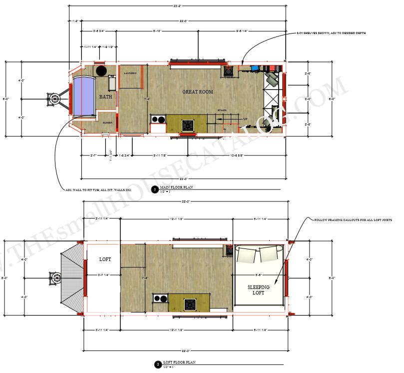 longueur et largeur maximal tiny house