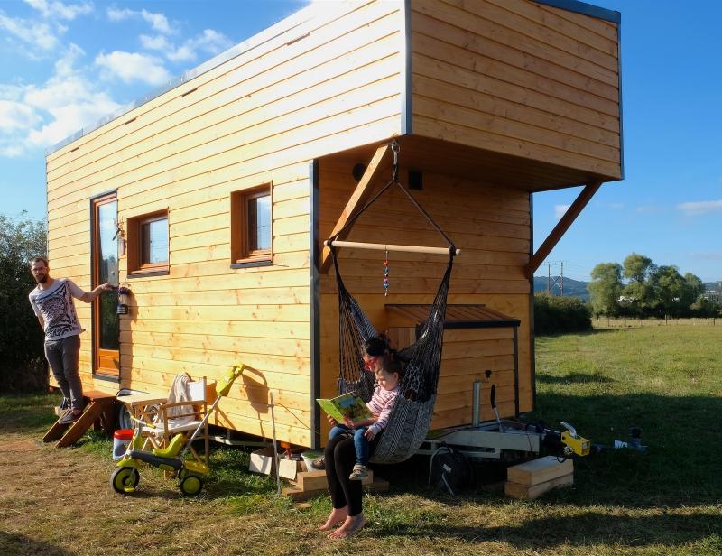 tiny house double à mezzanine