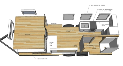 plan de la tiny house de ana white
