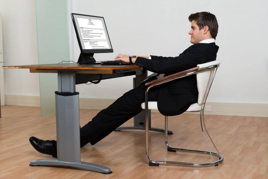 Chaise de bureau chaise à 4 pieds