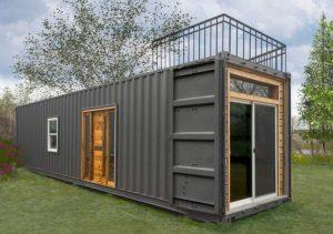 Bureau de jardin container