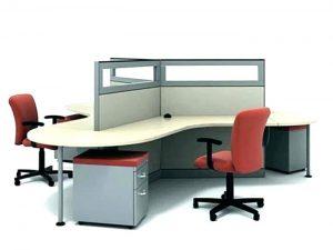 Bureau d'angle d'open space