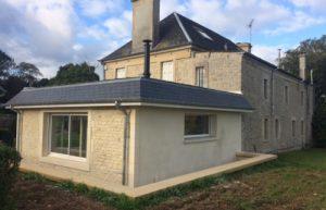 extension maison ancienne pierre