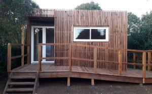 Rampe d'accès PMR sur un Lodge Greenkub